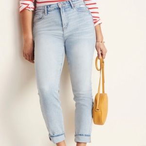 Old Navy Light Wash High Waisted Power Slim Jeans